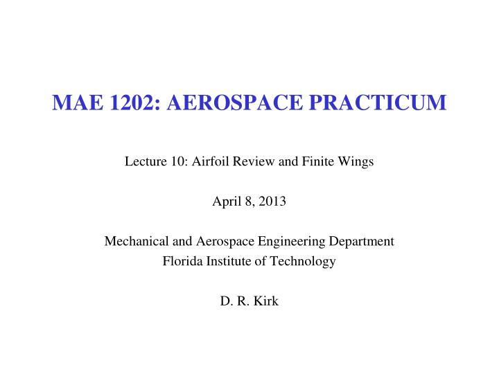 mae 1202 aerospace practicum n.