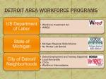 detroit area workforce programs