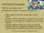 youth master planning