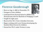 florence goodenough