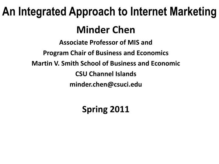an integrated approach to internet marketing n.