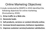 online marketing objectives