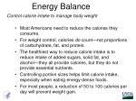 energy balance1