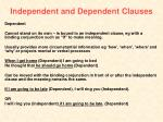 independent and dependent clauses1