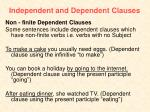 independent and dependent clauses2