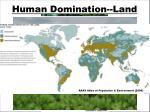 human domination land