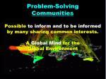 problem solving communities