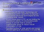 environmental leadership cont