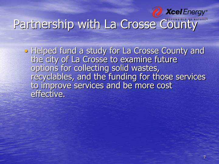 Partnership with La Crosse County