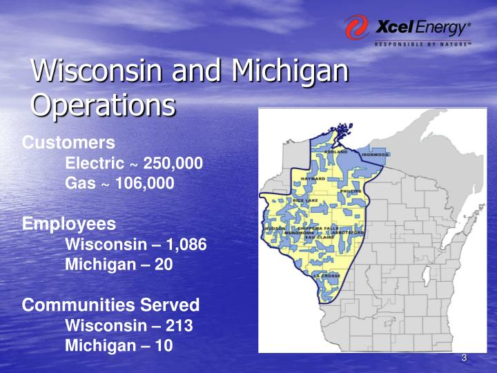 Wisconsin and michigan operations