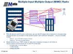 multiple input multiple output mimo radio