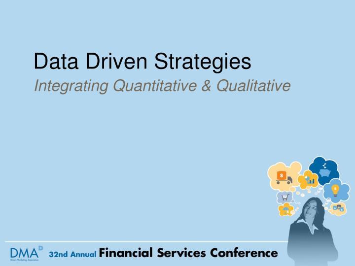 data driven strategies n.