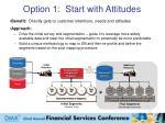option 1 start with attitudes
