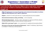 experience innovation it aac empowered by evidenced base research
