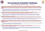 overcoming the acquisition challenges we are buying yesterdays technology tomorrow