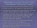 advantages of a state communication development monitoring protocol