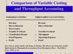 comparison of variable costing and throughput accounting