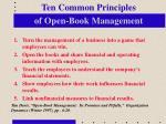 ten common principles of open book management
