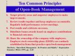 ten common principles of open book management1