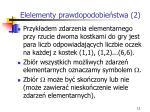 elelementy prawdopodobie stwa 2