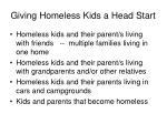 giving homeless kids a head start