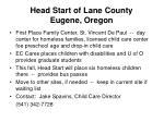 head start of lane county eugene oregon