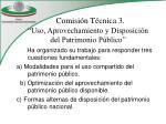 comisi n t cnica 3 uso aprovechamiento y disposici n del patrimonio p blico