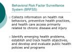 behavioral risk factor surveillance system brfss1