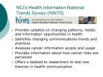 nci s health information national trends survey hints