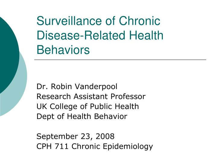surveillance of chronic disease related health behaviors n.