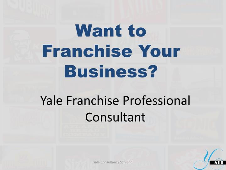 yale franchise professional consultant n.