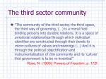 the third sector community