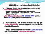 2009 23 s ra nolu genelge h k mleri