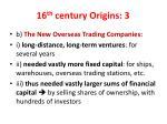 16 th century origins 3