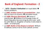 bank of england formation 2