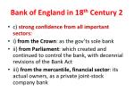 bank of england in 18 th century 2