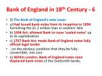 bank of england in 18 th century 6