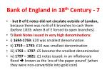 bank of england in 18 th century 7