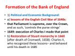 formation of the bank of england