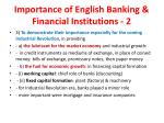 importance of english banking financial institutions 2