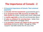 the importance of consols 2