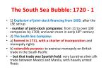 the south sea bubble 1720 1