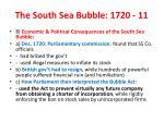 the south sea bubble 1720 11