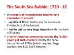 the south sea bubble 1720 12