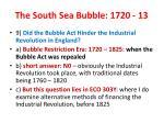 the south sea bubble 1720 13