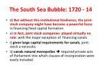 the south sea bubble 1720 14