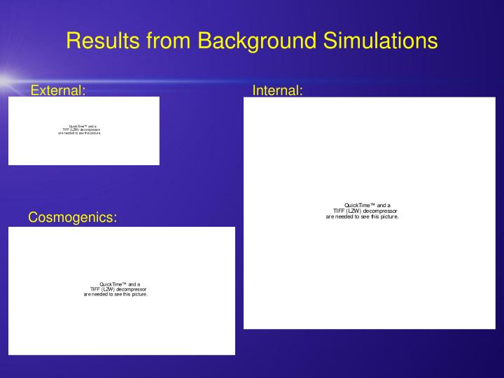 Results from Background Simulations