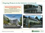 ongoing projects in the initiative continued