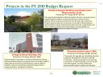 projects in the fy 2010 budget request