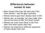 differences between women men